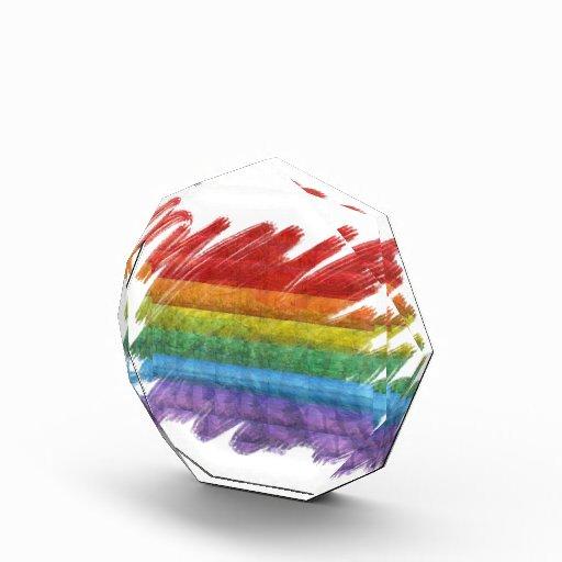 Bandera del orgullo gay del mosaico del arco iris