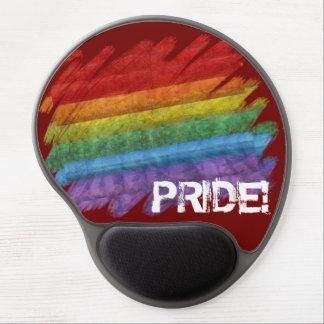Bandera del orgullo gay del mosaico del arco iris alfombrilla de raton con gel
