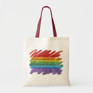 Bandera del orgullo gay del mosaico del arco iris bolsa tela barata