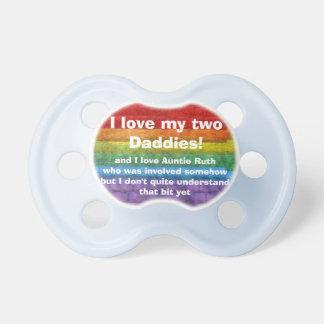Bandera del orgullo gay del mosaico del arco iris chupetes para bebés