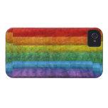 Bandera del orgullo gay del mosaico del arco iris iPhone 4 fundas