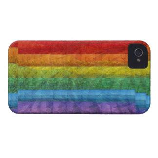 Bandera del orgullo gay del mosaico del arco iris iPhone 4 cárcasas