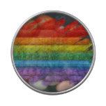 Bandera del orgullo gay del mosaico del arco iris jarrones de caramelos