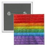 Bandera del orgullo gay del mosaico del arco iris pin cuadrada 5 cm