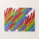 Bandera del orgullo gay del mosaico del arco iris rompecabeza con fotos