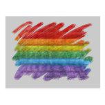 Bandera del orgullo gay del mosaico del arco iris tarjetas postales