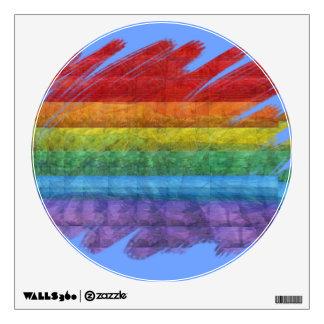 Bandera del orgullo gay del mosaico del arco iris vinilo