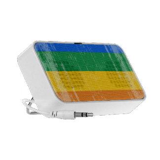 Bandera del orgullo gay del vintage iPod altavoces