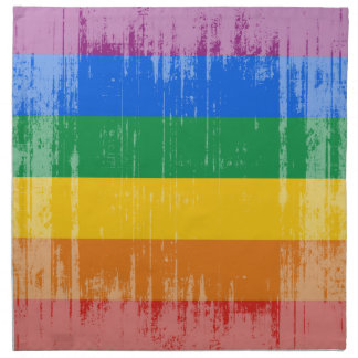 Bandera del orgullo gay del vintage servilletas de papel