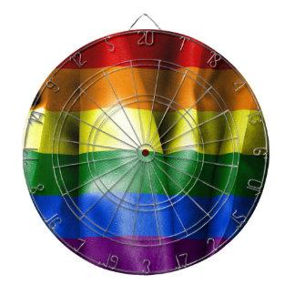 Bandera del orgullo gay tablero dardos