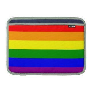 Bandera del orgullo gay funda para macbook air