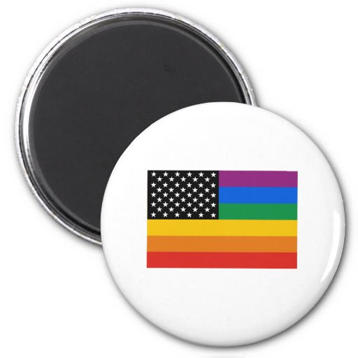 Bandera del orgullo gay iman para frigorífico