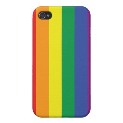 Bandera del orgullo gay iPhone 4 funda