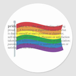 Bandera del orgullo gay pegatina redonda