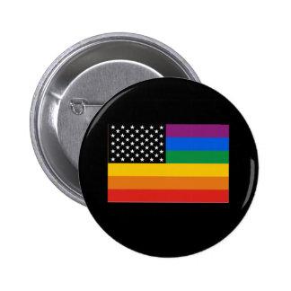 Bandera del orgullo gay pin redondo de 2 pulgadas