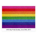 Bandera del orgullo gay postal