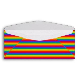 Bandera del orgullo gay sobres