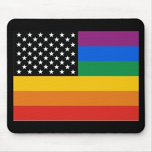 Bandera del orgullo gay tapete de ratón