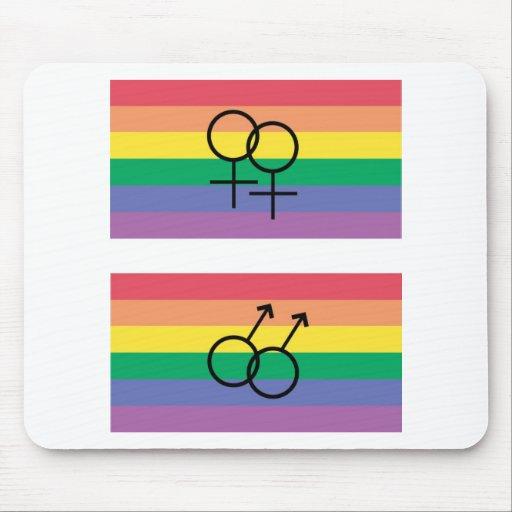 Bandera del orgullo gay tapetes de ratones