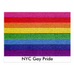 Bandera del orgullo gay tarjeta postal