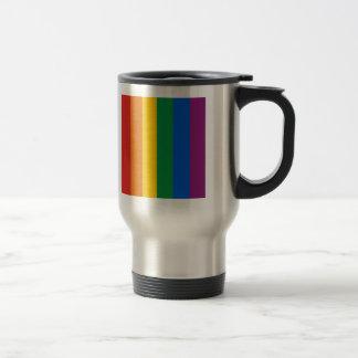 Bandera del orgullo gay taza de viaje