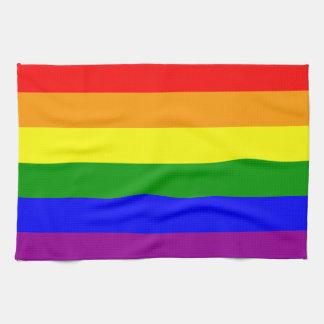 Bandera del orgullo gay toalla de cocina