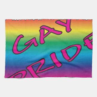 Bandera del orgullo gay toalla de mano