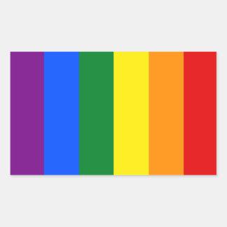 Bandera del orgullo totalmente gay rectangular pegatina