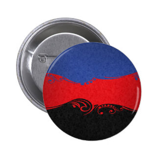 Bandera del Ornamental de Polyamorous Pin Redondo 5 Cm