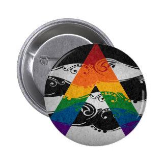 Bandera del Ornamental del aliado de LGBT Pin Redondo De 2 Pulgadas