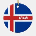 Bandera del ornamento de Islandia Ornamento Para Reyes Magos