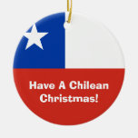Bandera del ornamento del navidad de Chile Ornamente De Reyes
