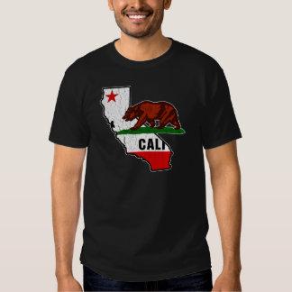 Bandera del oso de California (apenada) Polera