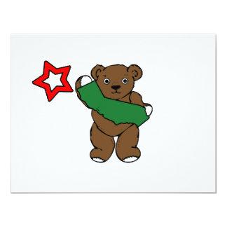 """bandera del oso de California Invitación 4.25"""" X 5.5"""""""