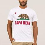 Bandera del oso de la papá de California Playera