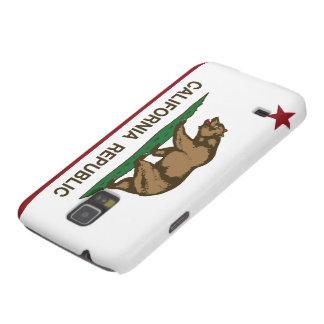 Bandera del oso de la república de California Carcasas Para Galaxy S5