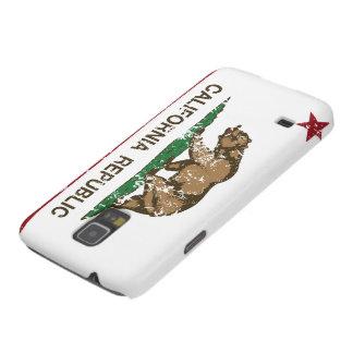 Bandera del oso de la república de California Funda De Galaxy S5