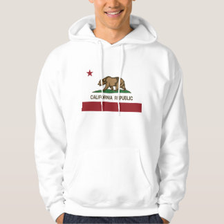 Bandera del oso de la república de California Sudaderas Con Capucha