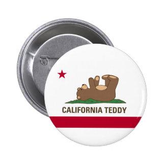 Bandera del oso de peluche de California Pins