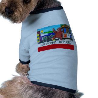 Bandera del oso de San Francisco California Ropa Perro
