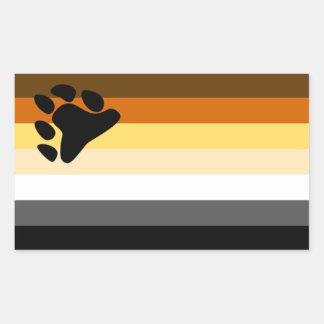 Bandera del oso rectangular altavoces