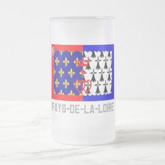 Bandera del Pays-de-la-Loire con nombre Taza De Cristal
