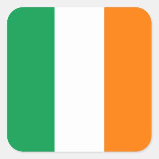 Bandera del pegatina cuadrado de Irlanda
