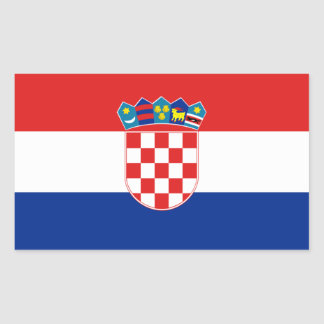 Bandera del pegatina de Croacia