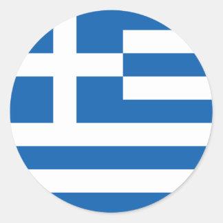 Bandera del pegatina de Grecia (círculo)