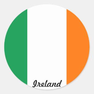 Bandera del pegatina de Irlanda