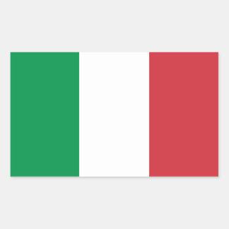 Bandera del pegatina de la etiqueta de Italia