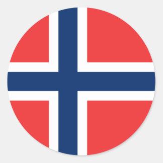 Bandera del pegatina de Noruega