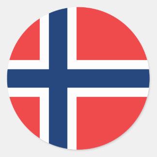 Bandera del pegatina de Noruega (círculo)