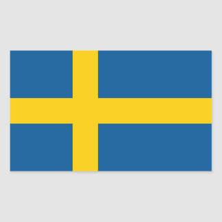 Bandera del pegatina de Suecia